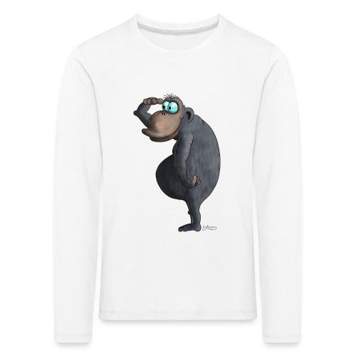 cooler Affe - Kinder Premium Langarmshirt