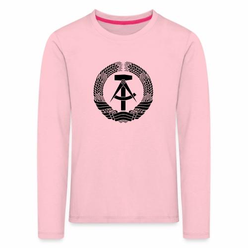 DDR Wappen (schwarz) - Kids' Premium Longsleeve Shirt