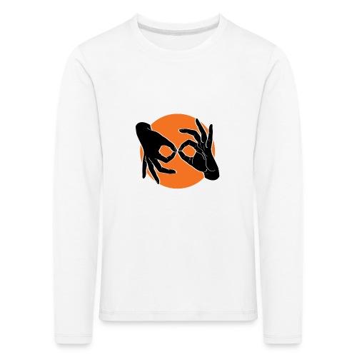 Deaf Interpreter black / orange - Kinder Premium Langarmshirt
