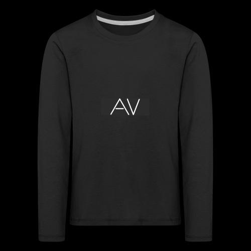 AV White - Kids' Premium Longsleeve Shirt