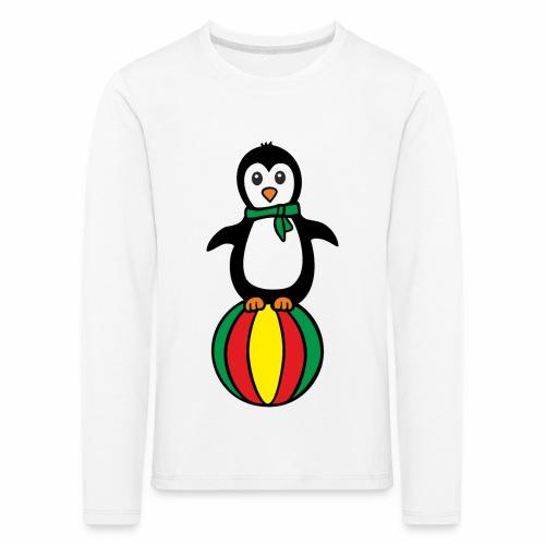 Pinguin auf einem Ball - Kinder Premium Langarmshirt
