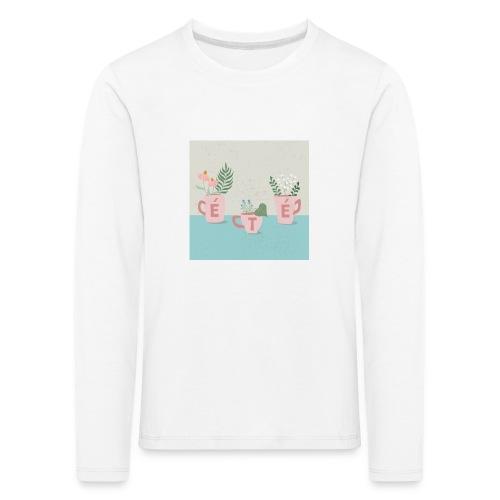 fleurs d'été - Maglietta Premium a manica lunga per bambini