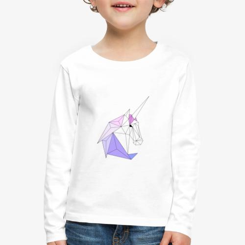 Einhorn geometrie unicorn - Kinder Premium Langarmshirt