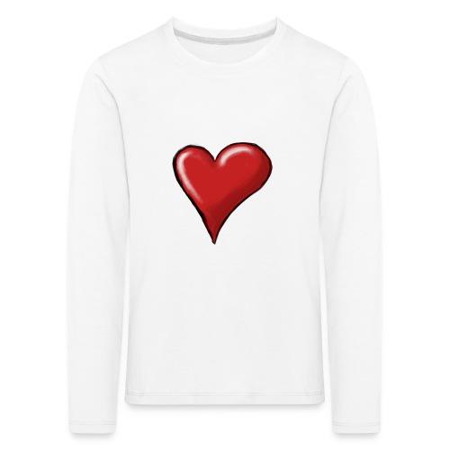 Love (coeur) - T-shirt manches longues Premium Enfant