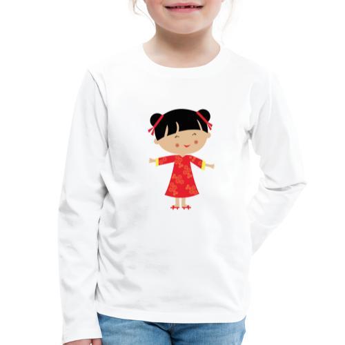 Happy Meitlis - China - Kinder Premium Langarmshirt