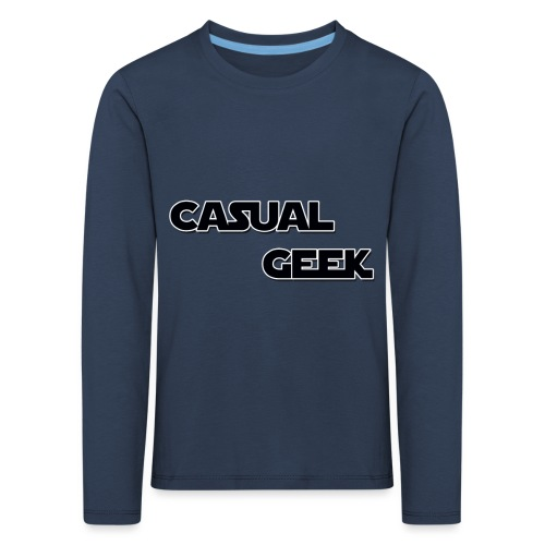 CasualGeek Standard Logo - Kids' Premium Longsleeve Shirt