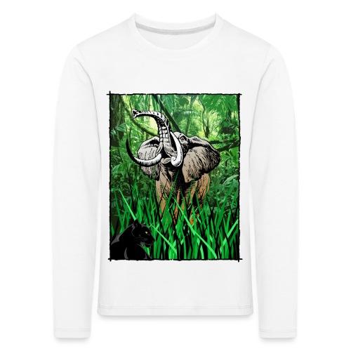 Waldelefant in Afrika - Kinder Premium Langarmshirt