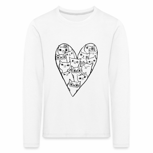 I Love Cats - Kids' Premium Longsleeve Shirt