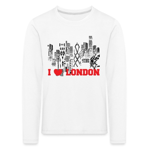 I LOVE LONDON SKYCRAPERS - Camiseta de manga larga premium niño