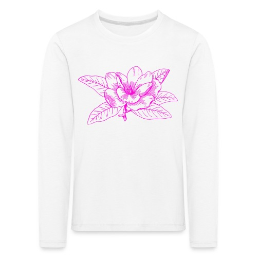 Camisetas y accesorios de flor color rosada - Camiseta de manga larga premium niño