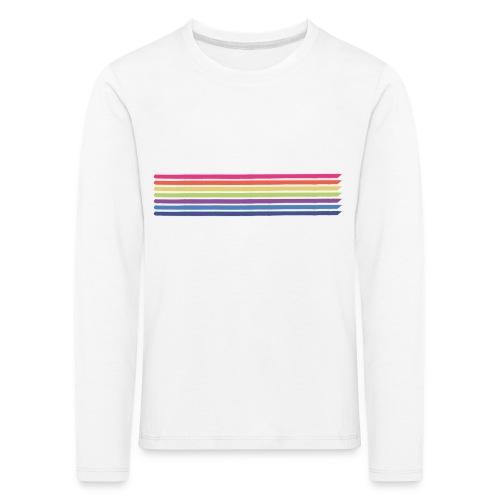 Farvede linjer - Børne premium T-shirt med lange ærmer
