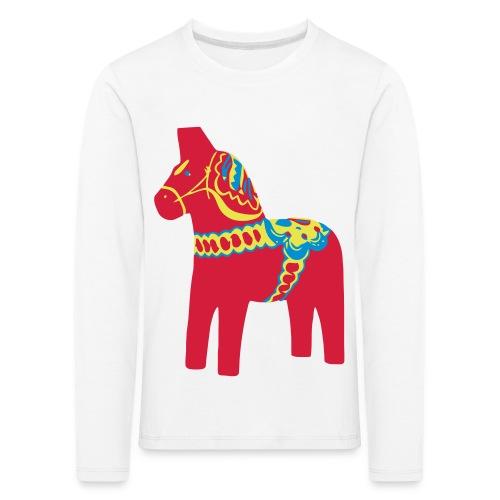 Dalahäst Dalecarlian Horse Dala-Pferd. Schweden - Kinder Premium Langarmshirt