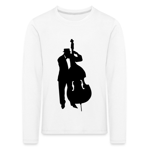 Kontrabass - Kinder Premium Langarmshirt