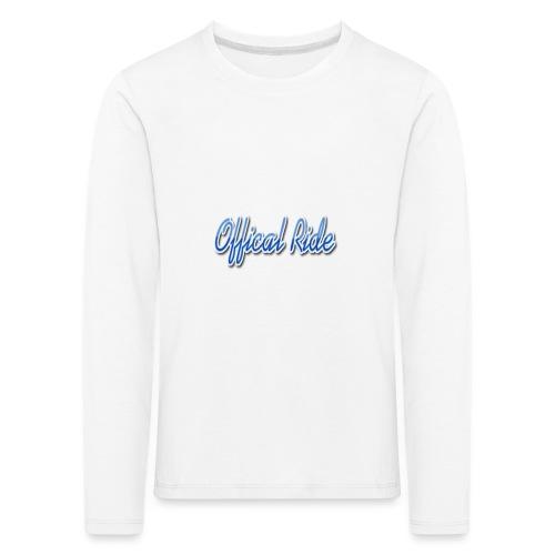 Offical Ride - Kinder Premium Langarmshirt