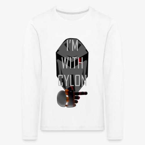 I'm with Cylon - Premium langermet T-skjorte for barn