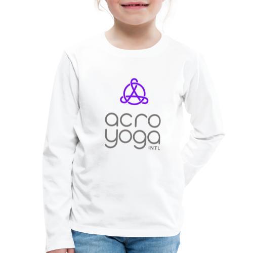 AcroYoga International Logo - Kids' Premium Longsleeve Shirt