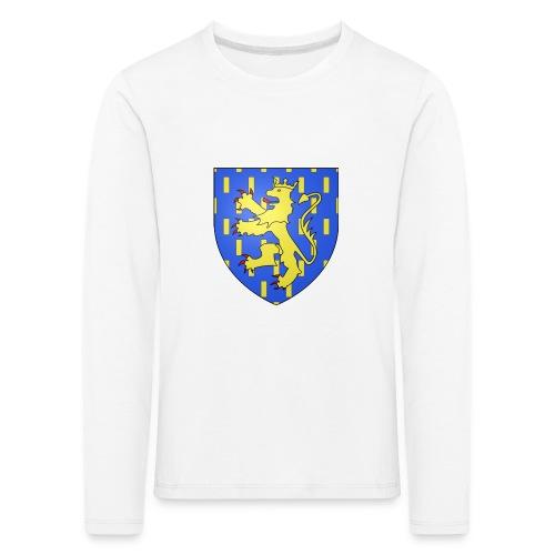 Blason de la Franche-Comté avec fond transparent - T-shirt manches longues Premium Enfant