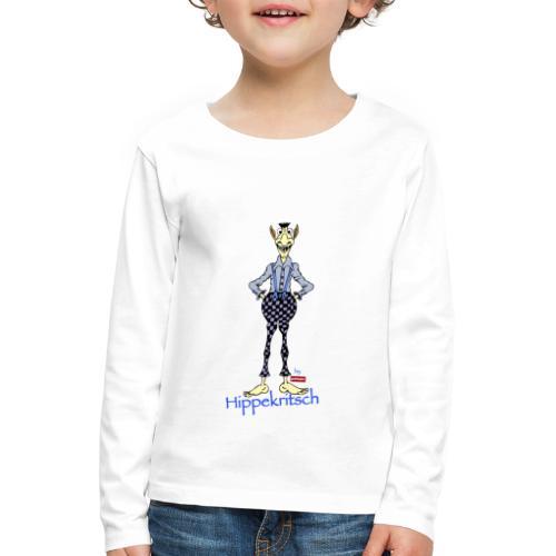 patame Hippekritsch Blau - Kinder Premium Langarmshirt