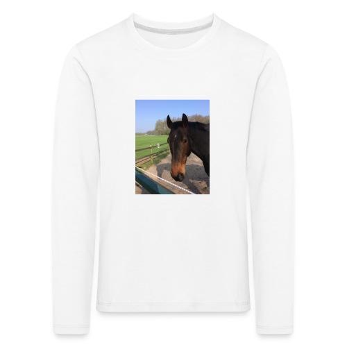 Met bruin paard bedrukt - Kinderen Premium shirt met lange mouwen