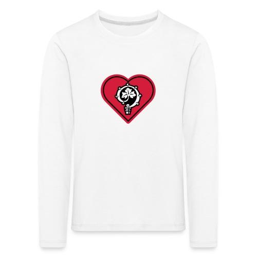 herz shirt weiss hoch 25cm ok - Kinder Premium Langarmshirt