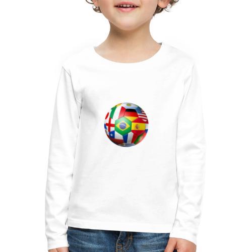 Brasil Bola - Kids' Premium Longsleeve Shirt