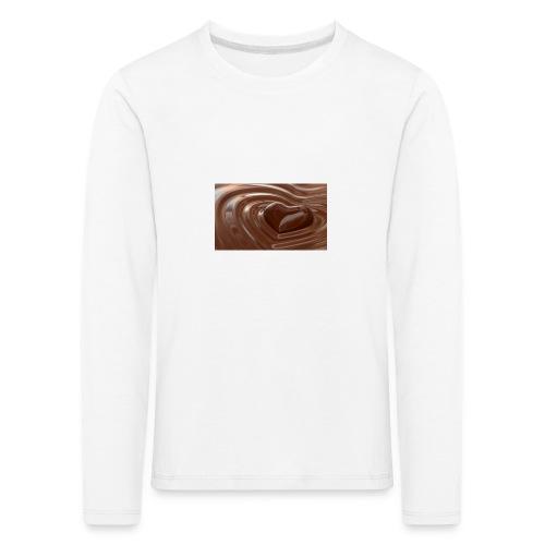 Choklad T-shirt - Långärmad premium-T-shirt barn