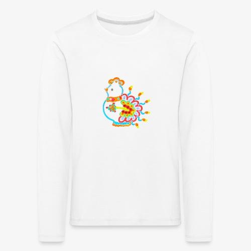 Vogel neon bunt - Kinder Premium Langarmshirt