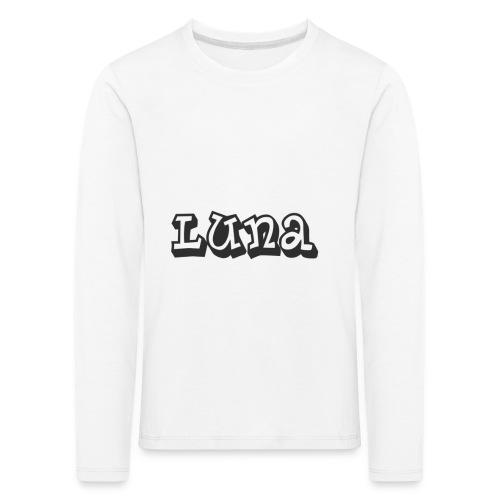 Luna - Kinderen Premium shirt met lange mouwen