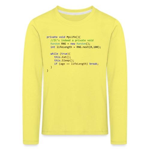 My Life C# - Maglietta Premium a manica lunga per bambini
