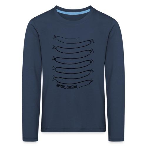 Wiener Illusion (schwarz auf weiß) - Kinder Premium Langarmshirt