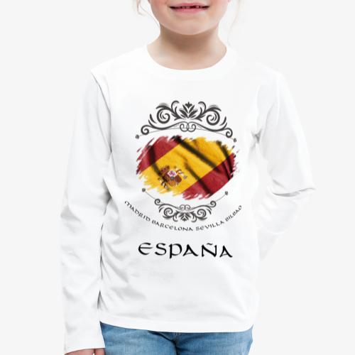 Spain Vintage Flag - Kinder Premium Langarmshirt