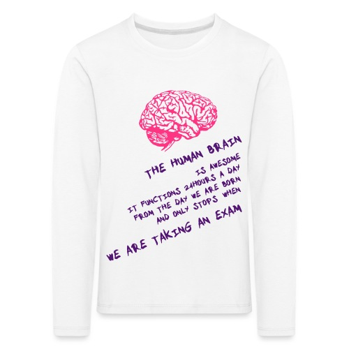 Human Brain - Maglietta Premium a manica lunga per bambini