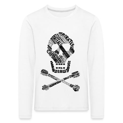 Tête de mort mots - T-shirt manches longues Premium Enfant