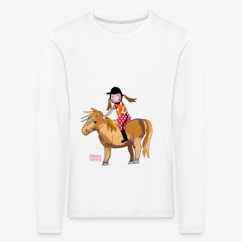 petite fille et poney - T-shirt manches longues Premium Enfant