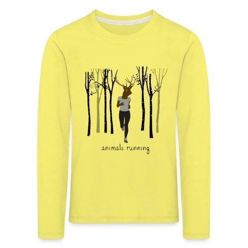 Cerf running - T-shirt manches longues Premium Enfant