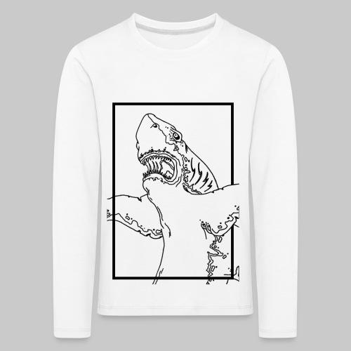 SHARK BLACK line - T-shirt manches longues Premium Enfant