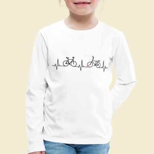 Heart Monitor Kunstrad & Radball - Kinder Premium Langarmshirt