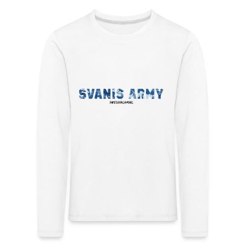 SVANIS ARMY, SWEDISHGAMING - Långärmad premium-T-shirt barn
