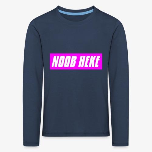 NOOB HEKE - Lasten premium pitkähihainen t-paita