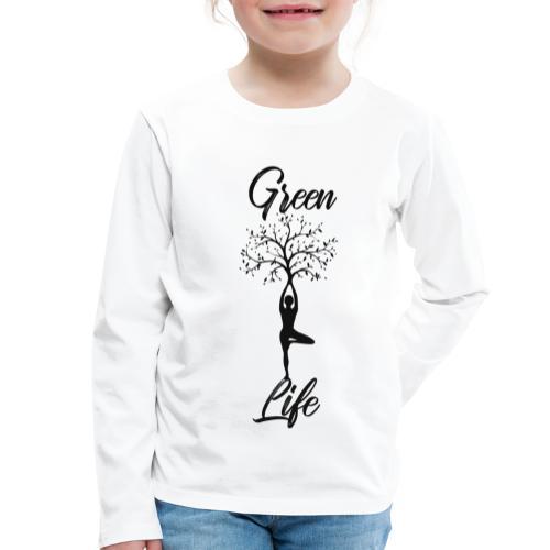 Greenlife Yoga Leben Nachhaltig Klimawandel - Kinder Premium Langarmshirt