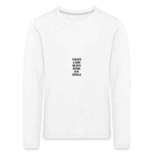 frasi fatte citazioni - Maglietta Premium a manica lunga per bambini