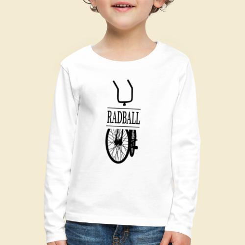 Radball | Retro Black - Kinder Premium Langarmshirt