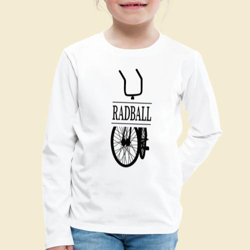 Radball   Retro Black - Kinder Premium Langarmshirt