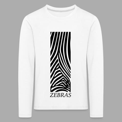 zebras - Kids' Premium Longsleeve Shirt