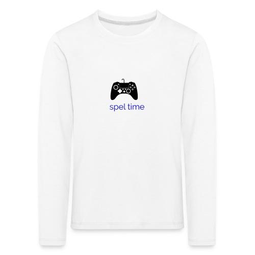 spel time - Långärmad premium-T-shirt barn