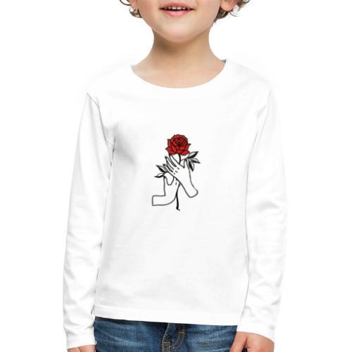 Fiore rosso - Maglietta Premium a manica lunga per bambini
