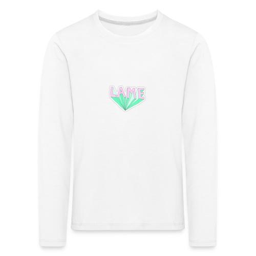 LAME tshirt - Børne premium T-shirt med lange ærmer