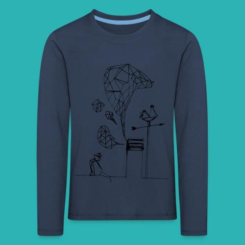 Carta_gatta-png - Maglietta Premium a manica lunga per bambini