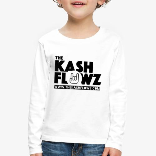 The Kash Flowz Official Web Site Black - T-shirt manches longues Premium Enfant