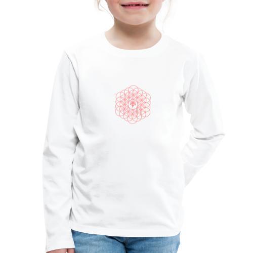 Blume des Lebens Pink - Kinder Premium Langarmshirt